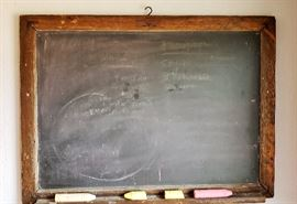 1800's slate chalkboard