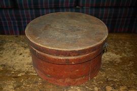 Antique wood hat box