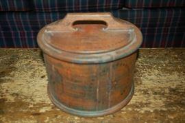Elegant, decorative, antique wood cake/doughnut box
