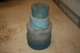 Variety of wood hat boxes