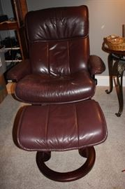 Vintage chair and ottoman