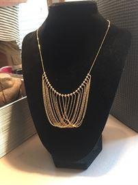 14K Gold Bib necklace