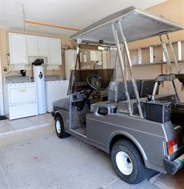 Golf Cart for sale and washer & dryer. Water softener for sale also.