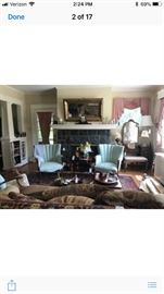 Great living room sofa , chairs, rocker, Desks, accent chairs, lamps, art and more