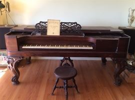 Decker Brothers Antique Square Grand Piano