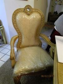 Arm chair with Brocade fabric.  Immaculate condition.