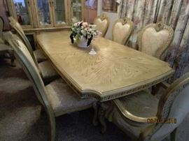 8'  Table with 8 chairs.  Immaculate condition.