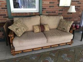Bamboo style sofa