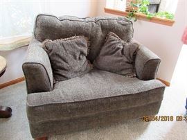 Update your living quarters with today'style such a nice contemporary sofa and matching chair.