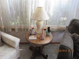 Oak side table, southwest decor