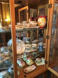 Fenton Glass Vases and a high quality collection of Dresser Sets