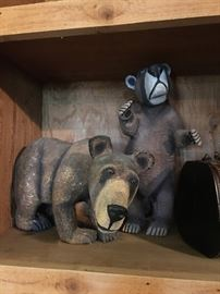 Hand Carved Bears