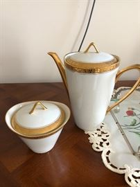 Limoges teapot and sugar bowl