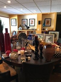 Lots of high-end home decor items and art objects.