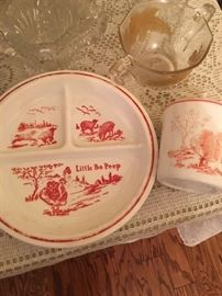 LITTLE BOPEEP CHILDS PLATE AND CUP