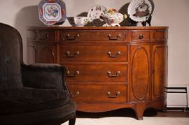 Vintage demilune commode sideboard by Morganton Furniture