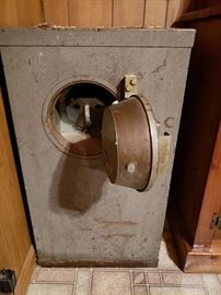 HEAVY old safe