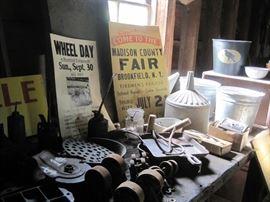 tin barn items