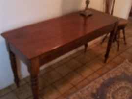 antique table, dated 1882