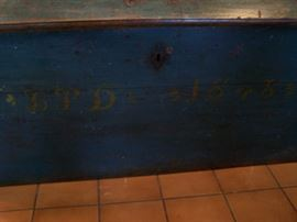 pine chest dated 1848