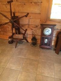 second wheel, clock, lantern