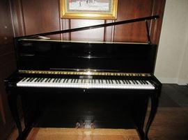 """Pristine Rippen """"Mignon"""" upright grand piano  in black high gloss"""