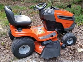 "Husqvarna mower with 46"" cut  (36 hours and still under warranty)"