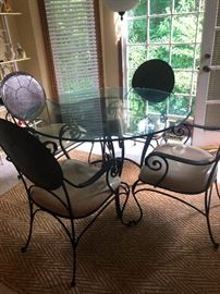 Wrought Iron Glass top Dinette