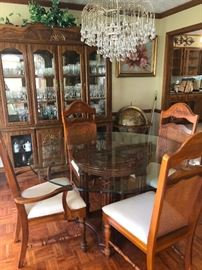 Formal Dining room Set with Cane Back Chairs