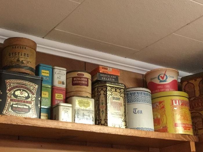 Collectible tins
