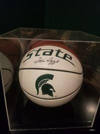 Tom Izzo signed ball! GO GREEN!