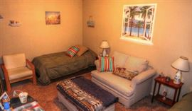 Pull out loveseat sofa, Pair of Twin Beds