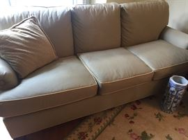 3 cushion couch - cotton twill covered