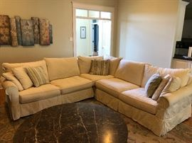 3-Piece Sofa Sectional with 2 sets of slipcovers