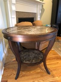 Chocolate Swirl Marble Foyer Table