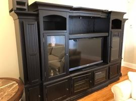 Black TV/Bookcase Wall Sectional (5 Removable Pieces)