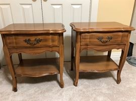 "Set of Antique Bedside Tables; Dimensions:  15"" Depth X 22"" Width X 24.50 Height"