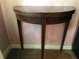 Brandt genuine mahogany folding table with gate leg - gorgeous detailing!
