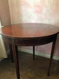 Brandt genuine mahogany table with gate leg - open