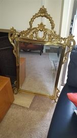 Several mirrors around the house