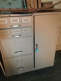 Wonderful metal cabinet with safe
