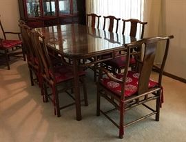 006 Rosewood Dining Set for 8    https://ctbids.com/#!/description/share/37754