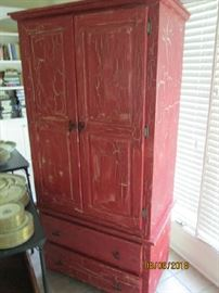 TALL PAINTED ARMOIRE