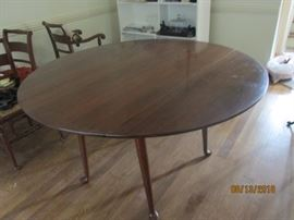 ROUND CHERRY DROP LEAF TABLE