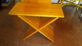 There are many pieces of this Work Bench cube furniture, for storage for side tables etc.