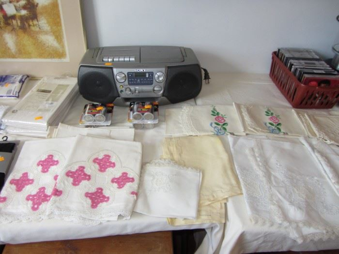 Beautiful hand stitched linens
