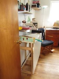 Sewing table and supplies