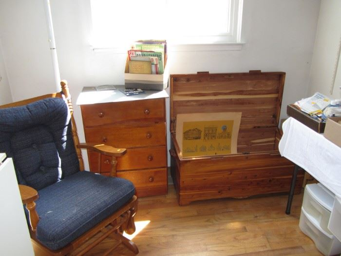 Cedar chest and dressers
