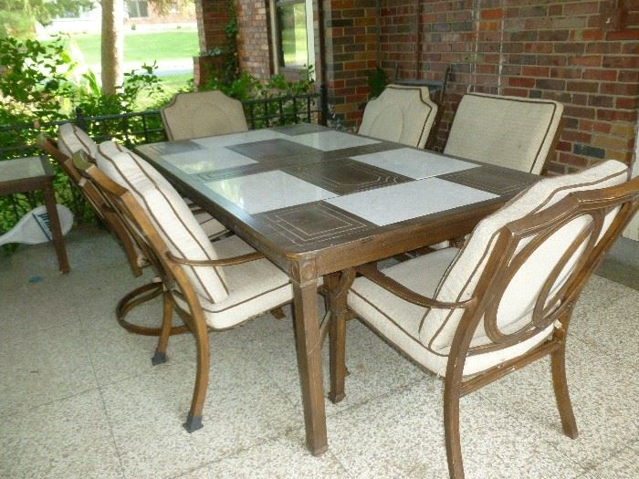 Great patio furniture..cushions could use cleaning though