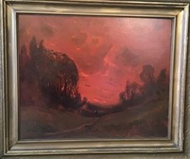 """The Close of Day"" by Sidney Tilden Daken          http://www.ctonlineauctions.com/detail.asp?id=747774"